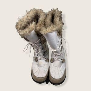 Athletech- faux fur trimmed snow boots